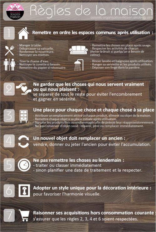 Organisation s rum and simple on pinterest - Astuces organisation maison ...