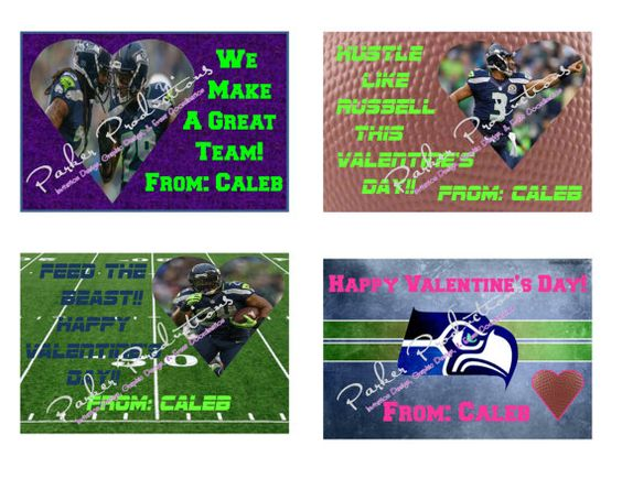 seattle seahawks valentines day cards by parkerproductions 1000