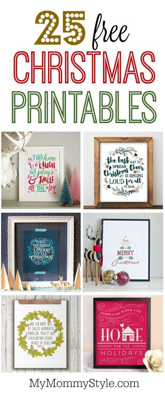 25 free Christmas printable: