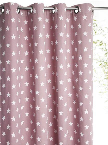 bedruckter baumwoll vorhang mit sen stern taupe marine stern rosa lila marine sterne grau weiss. Black Bedroom Furniture Sets. Home Design Ideas