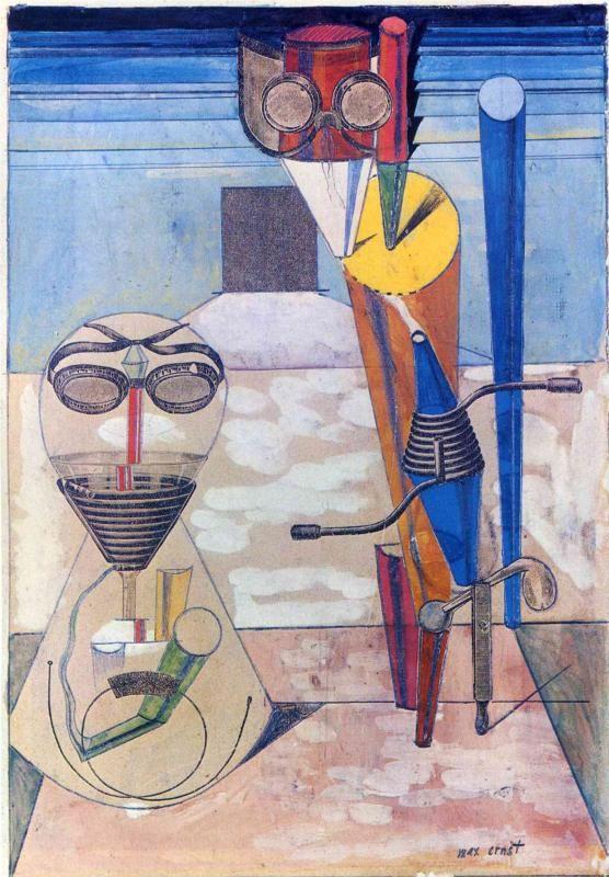 Max Ernst, Ambiguous Figures (1 copper plate, 1 zinc plate, 1 rubber cloth), c.1919 davidcharlesfoxexpressionism.com #expressionism #maxernst #expressionist #abstractartist