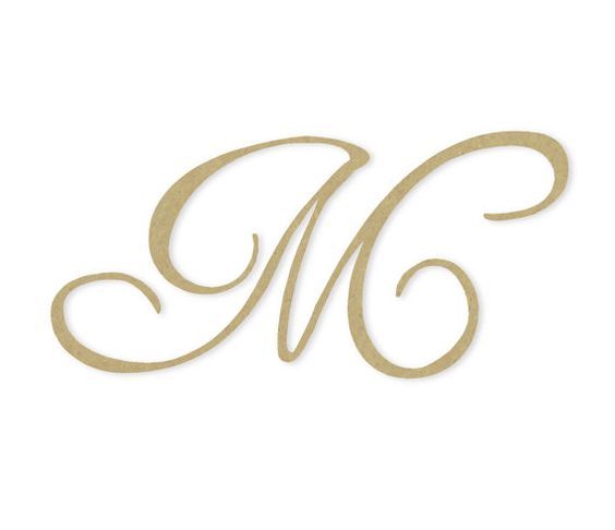 Cursive Monogram Letter - Large or Small, Unfinished, Cursive ...