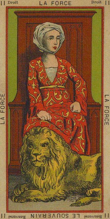 Strength - The Book Of Thoth - Etteilla Tarot