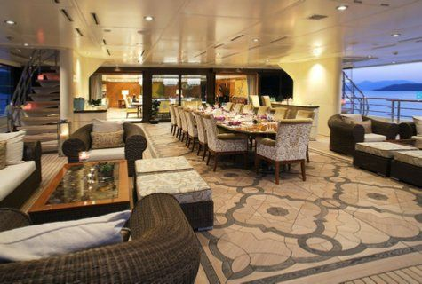 Inside Dilbar With Images Luxury Yacht Interior Yacht