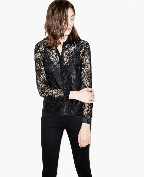 Lacquered lace shirt - The Kooples