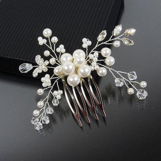 Bridal Hair Comb, AMELIE Hair Comb, Bridal hairpiece, Wedding hair accessories, Bridal Headpieces, Rhinestone hair comb bridal