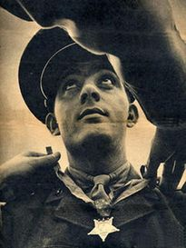 John Basilone (November 4, 1916 – February 19, 1945) was a United States Marine Gunnery Sergeant who received the nation's highest military award for valor, the Medal of Honor, for heroism during the Battle of Guadalcanal in World War II. He was the only Marine enlisted man to receive both the Medal of Honor and the Navy Cross in World War II.