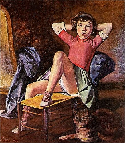 Balthus - Girl with a cat - 1937 #arthistory