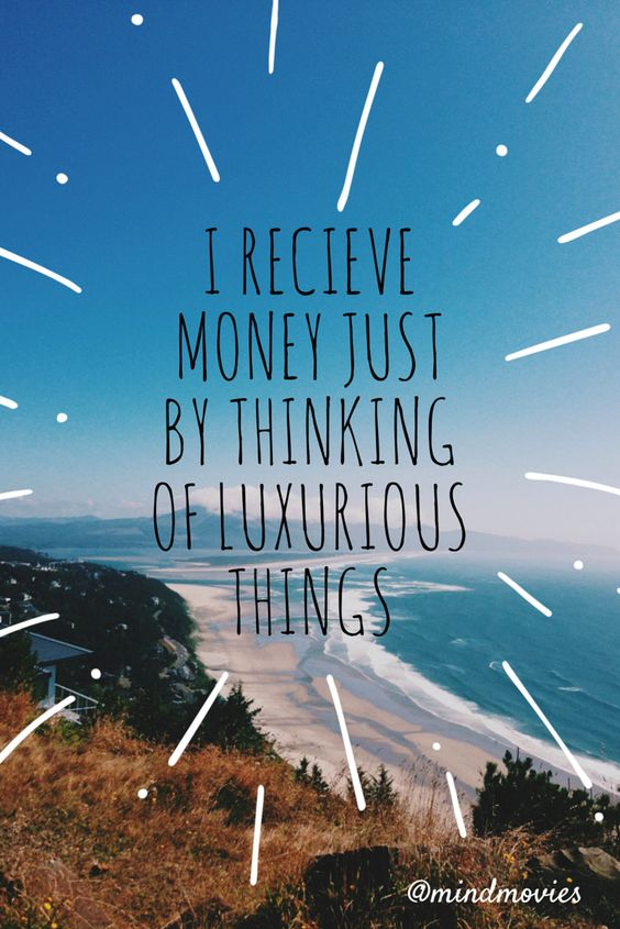 Money Quiz -> http://www.mindmovies.com/successblocker/index.php?26919 - I receive money just by thinking of luxurious things. #affirmations #wealth