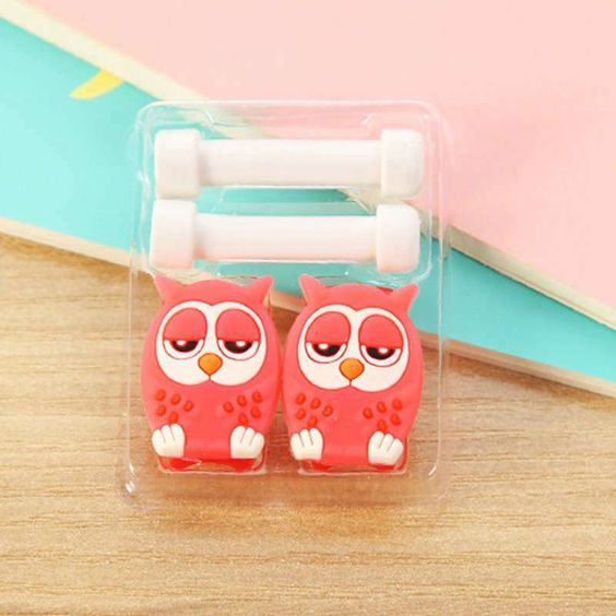 Cartoon Cute Lovely Usb Cable Protector Cable Case For Iphone 6 plus 6s 7 plus Cover Winder Cord protector organizer cable Owl