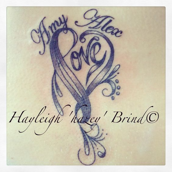 Pretty heart with names