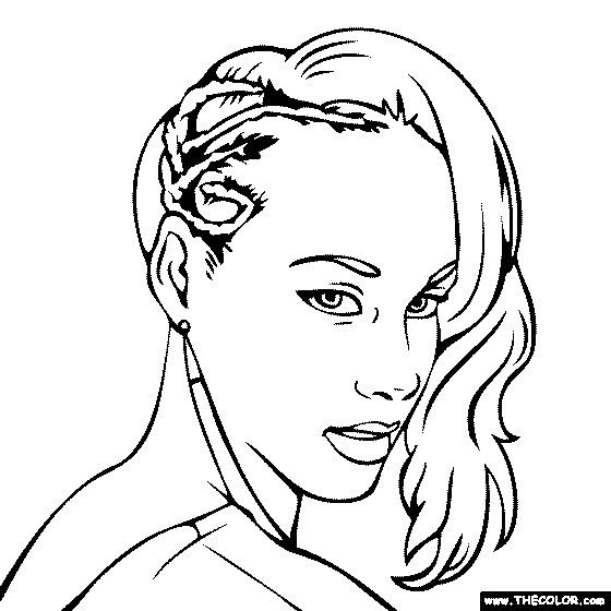 Alicia Keys Drawings Coloring Pages Sketches