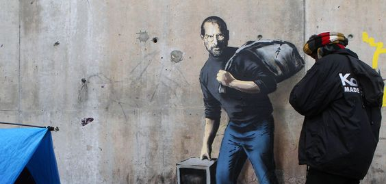 Le graff de Banksy qui rappelle que Steve Jobs était le fils d'un migrant syrien