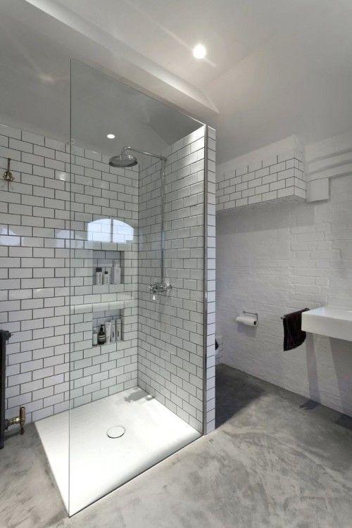 Stained Concrete Bathroom Floor Concrete Shower Cement Shower