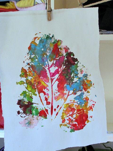 One big leaf print l #kids #creative #kidscreative #crafts l #kids #creative #kidscreative #crafts