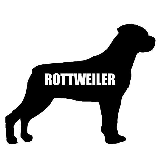 Rottweiler Name Silhouette Rottweiler Names Rottweiler