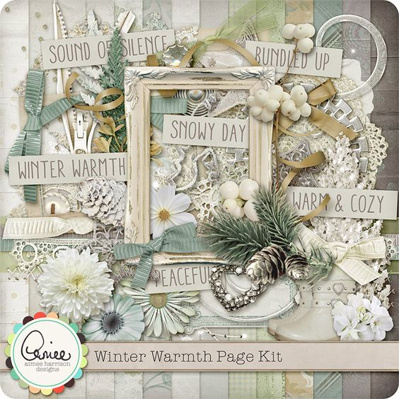 Winter Warmth Page Kit :: Gotta Pixel Digital Scrapbook Store  $7.99
