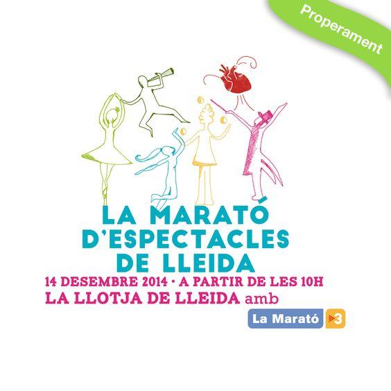 La Marató d'Espectacles de Lleida.  La marató TV3.  Pometa Gràfica es col·laboradors. http://www.pometagrafica.com