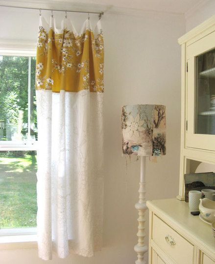 Did you ever realize your tablecloths were pretty much already #curtains?  Just add clips! #decor