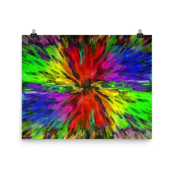 Tie Dye Swirl - Art Print