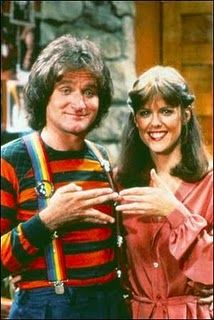 "Mork And Mindy, a favorite TV show. I remember in Jr. High, we would send around a notebook and take turns filling in ""Our Favorite T.V. show"", etc."