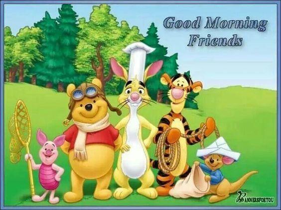 Pooh good mornings friends