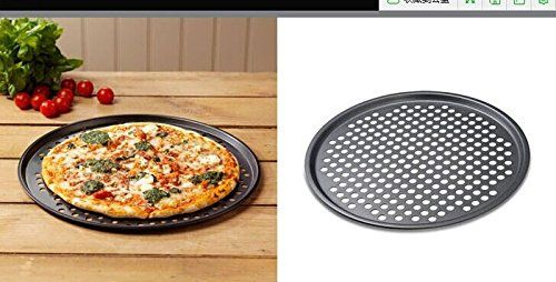 12 Round Pizza Crisper Seamless Rim Non Stick Mesh Hole Pizza Screen Baking Tray With Images Tray Bakes Cookware And Bakeware Baking