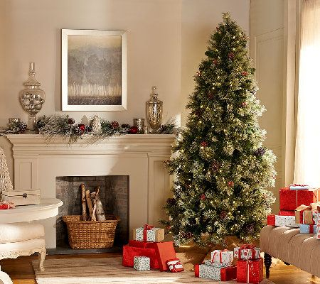 Temp-tations Frosted Spruce LED Tree with Convertible Sizing