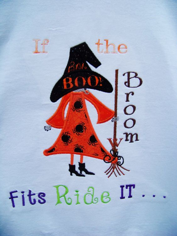 Halloween is coming!!! Join in the fun with this super cute shirt! This listing is for a witch themed shirt. If the Broom fits. We can do the