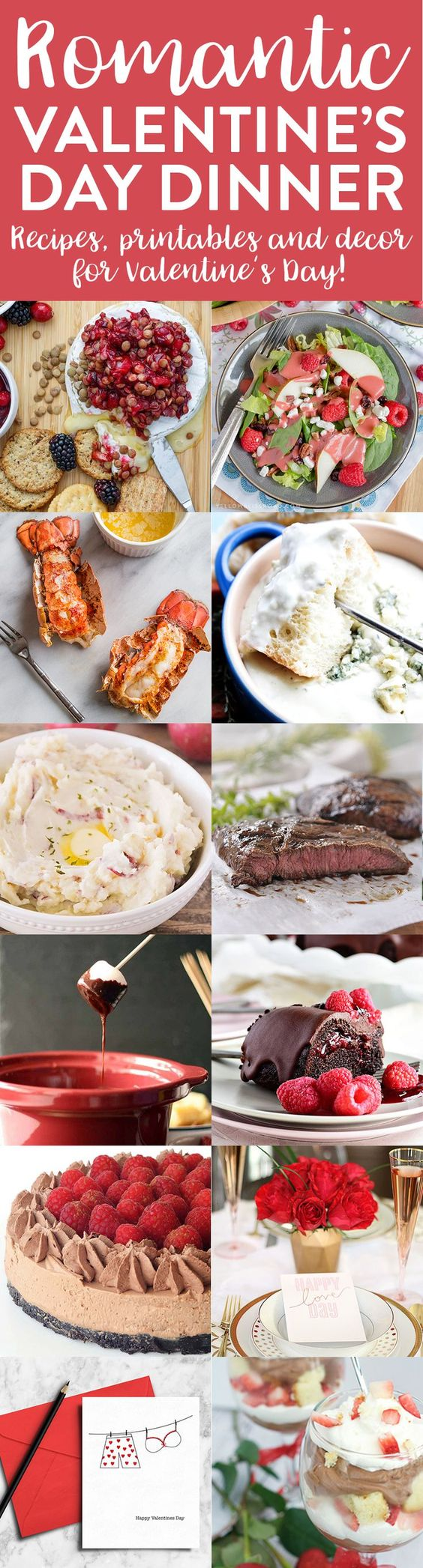 This Valentine's Day Meal Plan has got everything you need to make Valentine's Day a night to remember. From appetizers, to desserts, to printables and party ideas, we've got you covered! Enjoy our Valentine's Day Meal Plan! Raspberry Pear Salad with Homemade Raspberry Vinaigrette from Yellow Bliss Road Cranberry Lentil Brie Bake from The Cookie …
