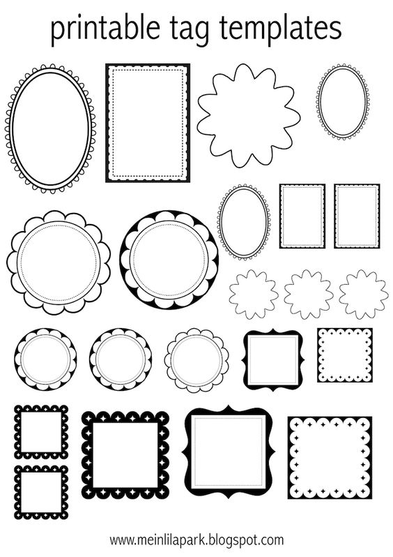 FREE #printable tag templates ( - for coloring or DIY tags ^^) #blackandwhite #templates
