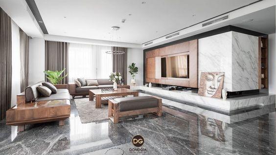 Bộ sưu tập mẫu sofa gỗ óc chó hiện đại đẹp nhất năm 2020