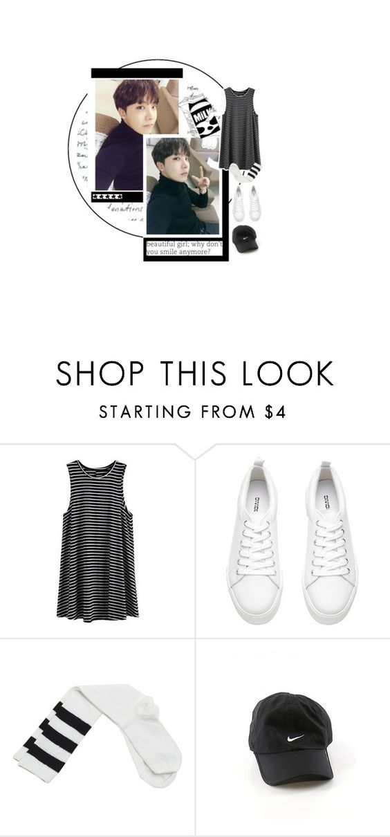 """#jhope"" by lunarose74 ❤ liked on Polyvore featuring Wet Seal, NIKE and HobiApreciationDay"