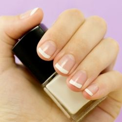 How to give yourself this adorable and classy DIY French Manicure!
