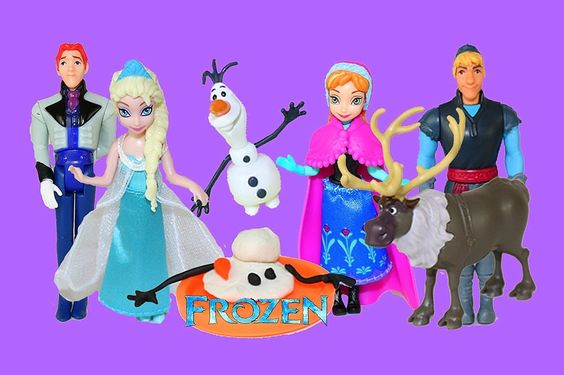 Playdoh Frozen Elsa ,Anna ,Olaf ,Peppa pig ,Hello kity - Frozen Pelicula...