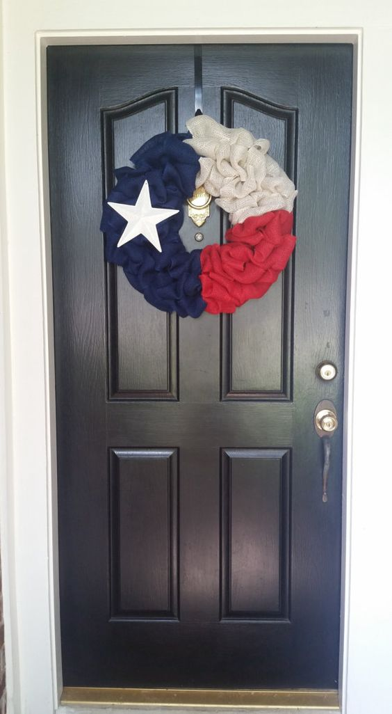 Star Of Texas >> Texas wreath / Texas flag / Burlap wreath / Lone Star State | Burlap, Flags and Love