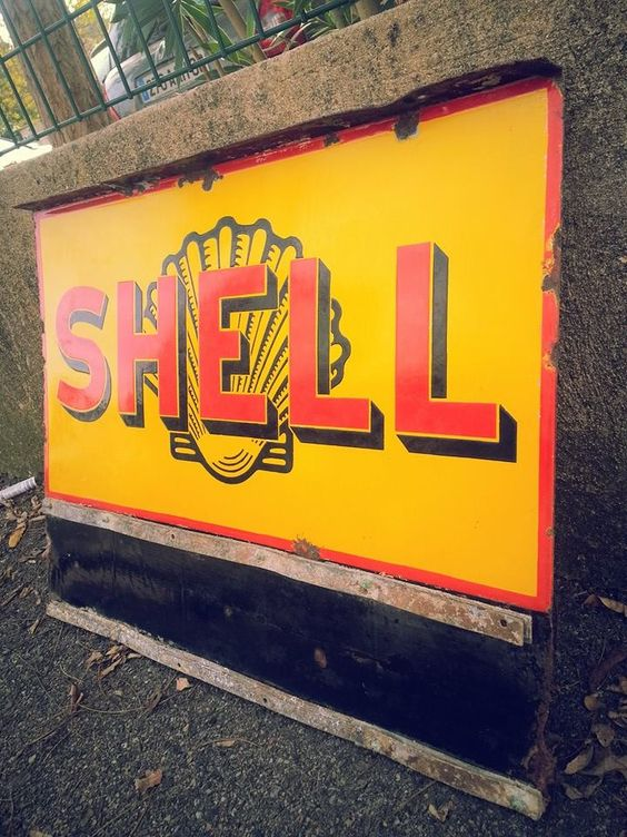Shell Enamel Sign, for Fuel Prices