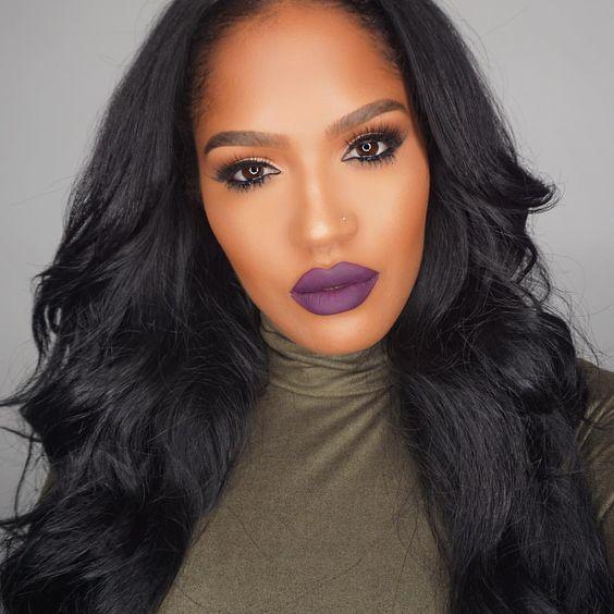 "SHAYLA on Instagram: "" makeup details @colouredraine ""Raine Fever"" liquid lipstick @coverfx liquid foundation @lauramercier translucent powder #maccosmetics Dark tan mineralized powder @lagirlcosmetics Hd concealer @urbandecaycosmetics ""score"" blush @flutterlashesinc #Slayla lashes on top and ""petite"" lashes on bottom @anastasiabeverlyhills brunette brow powder duo"""