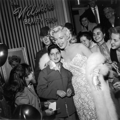 Marilyn Monroe with Joe DiMaggio Jr