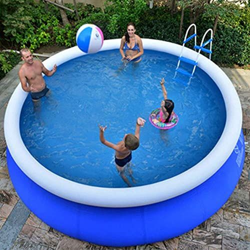 Enjoy Exclusive For Xm Lz Extra Large Inflatable Pool Kids Adults Round Pvc Swimming Pool Home Use Blow Up Pool Garden Outdoor Paddling Pools Blue 300x76cm On In 2020 Large Inflatable Pool Inflatable Pool