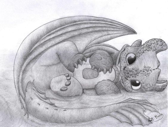Night Fury baby by HiccToothFan ... How to train your dragon, night fury, dragon