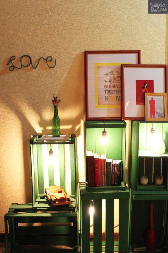 Estante de caixotes  http://saladadacasa.blogspot.com.br/