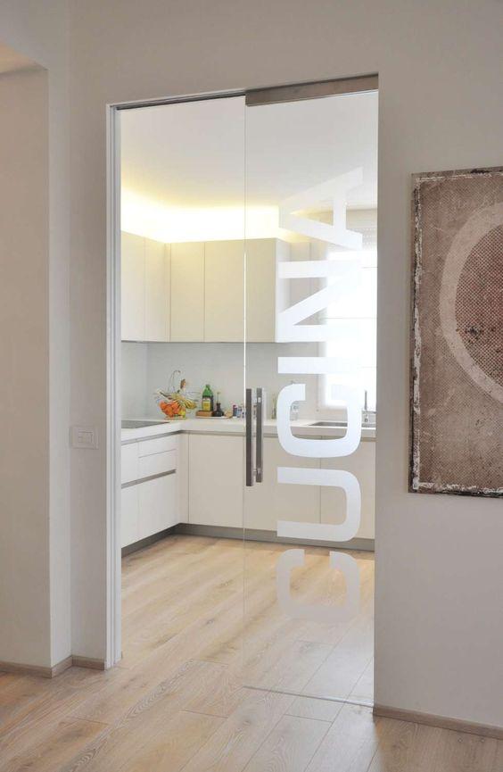 Porta scorrevole a scomparsa vetro cerca con google porte cucina pinterest cucina e ricerca - Parete divisoria in vetro prezzi ...
