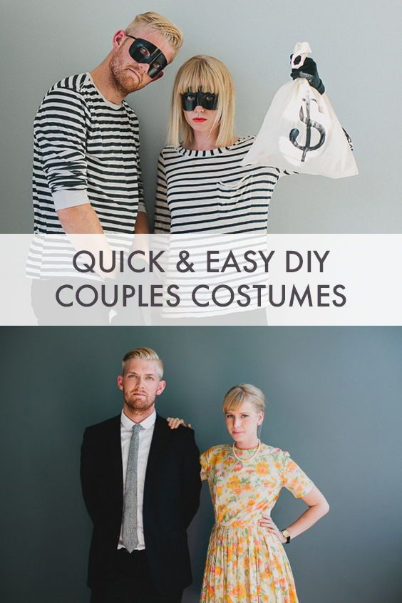 Easy and Last Minute Couples Costumes Pt. 1