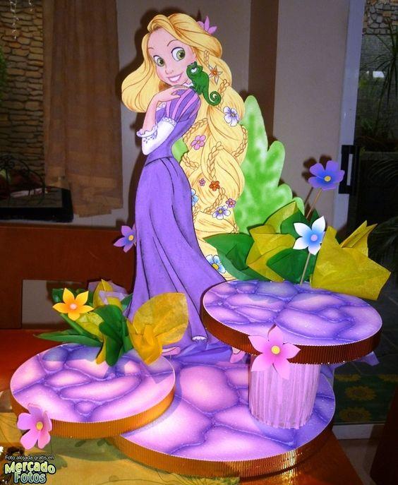 Decoracion Rapunzel Globos ~   lenis birthday rapunzel ideas and more fiestas rapunzel mesas google