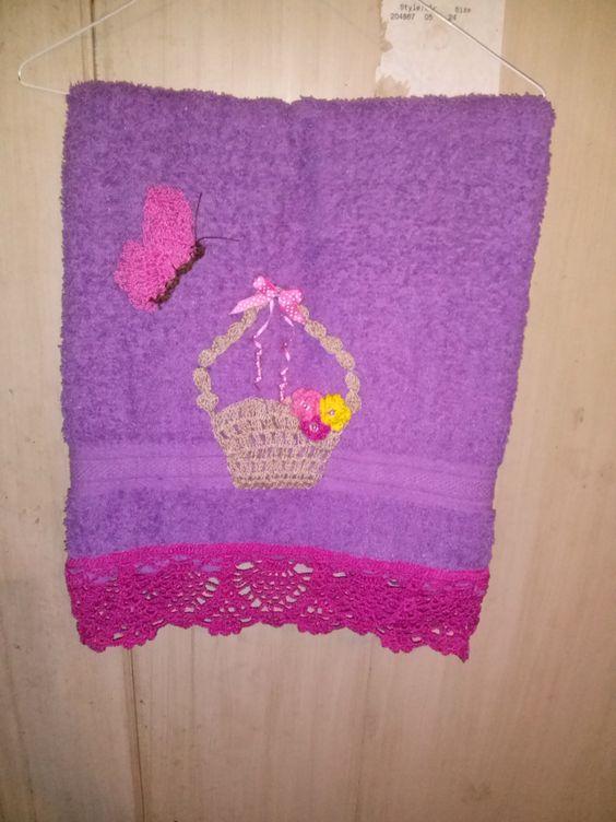toalla de baño a crochet