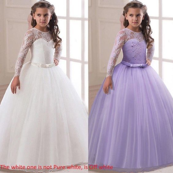 Flowers Girls Lace Princess Tutu Dresses Pageant Bridesmaid Formal Party Wedding