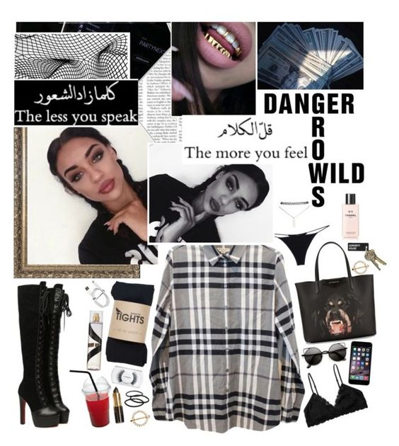 """☆❝ this chick about to go off , mad cause i'm so fresh, fresher than you  ❞ ☆"" by u-rbanarcissists ❤ liked on Polyvore featuring Burberry, Christies, Givenchy, MAC Cosmetics, Monki, Wet Seal, Goody and Chanel"
