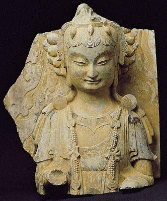 Figure of a Bodhisattva. Eastern Wei, 534-550 AD.