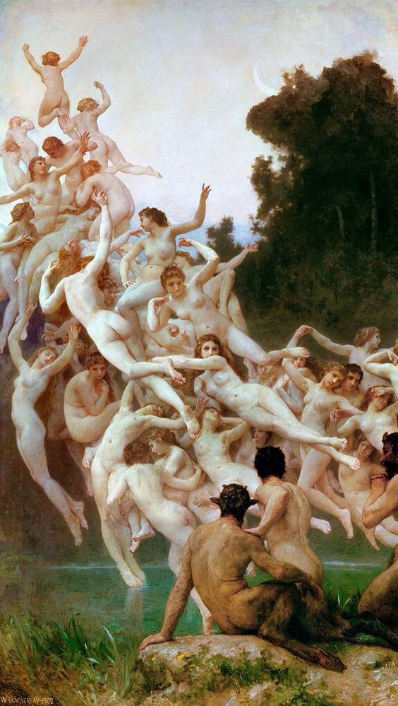 """""""Oreads"""" by William Adolphe Bouguereau.:"""